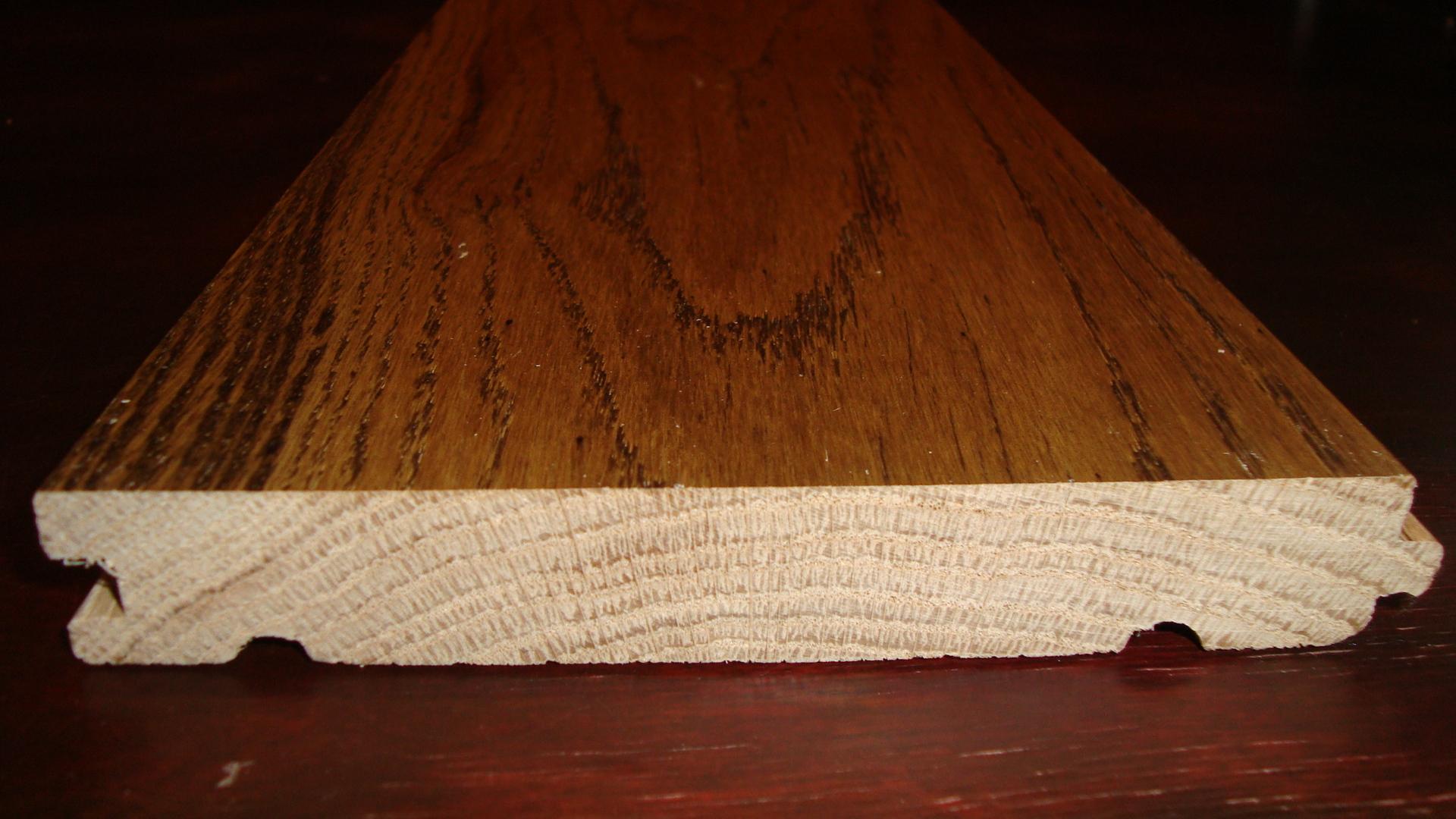Massiivpõrand tamm, Natur-Rustik, 1MP1 | Ristlõige täistammelaud